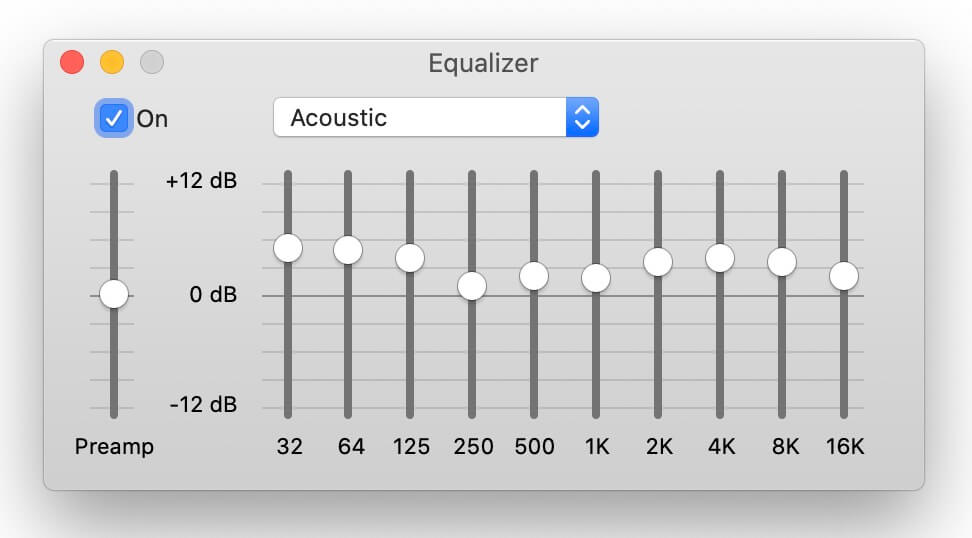 best equalizer settings - acoustic