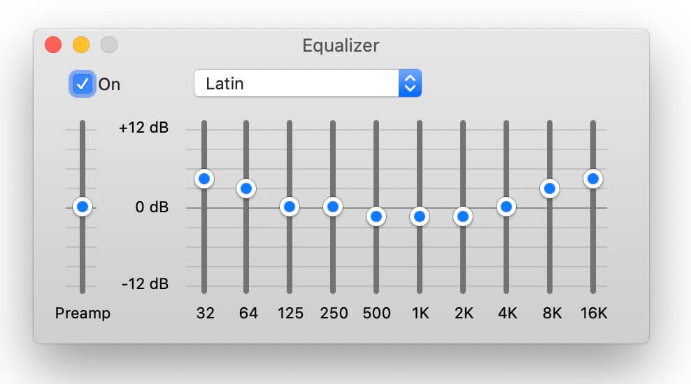 best equalizer settings - latin