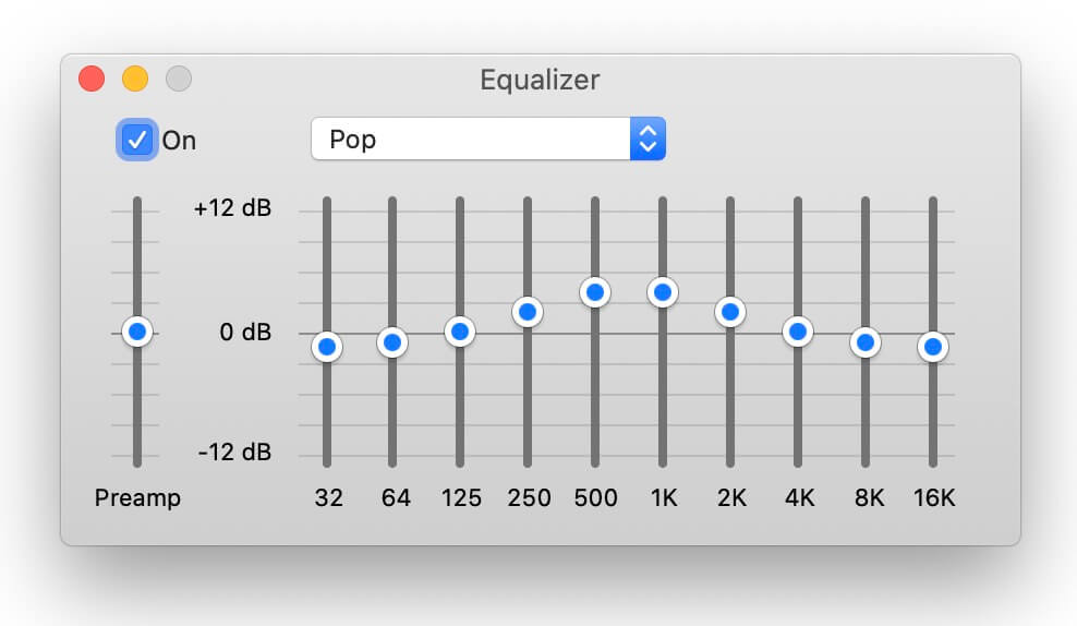 best equalizer settings - pop