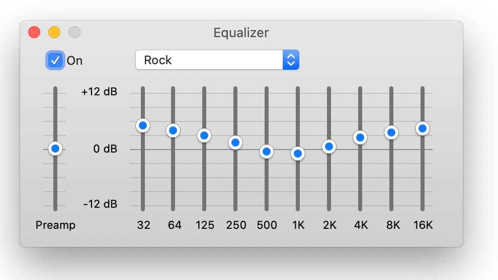 best equalizer settings - rock