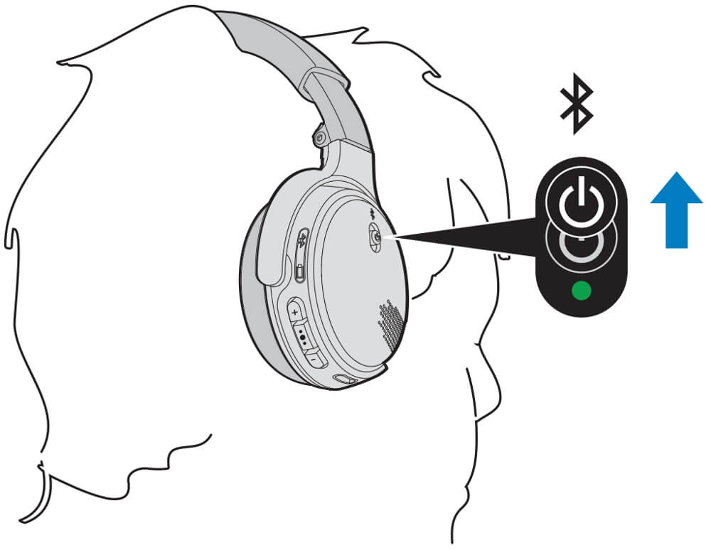 how to connect bose headphones to PC - bluetooth button