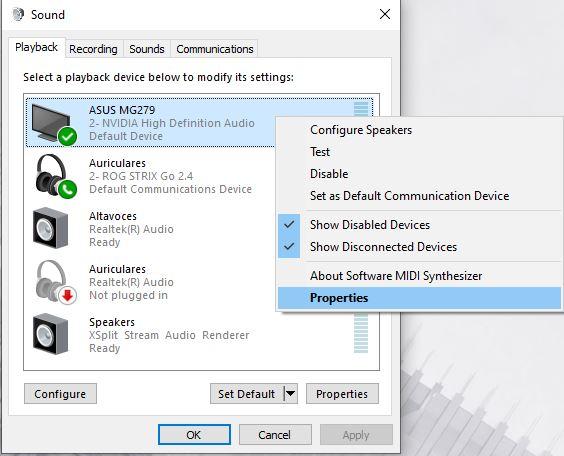How to adjust Bass on Windows 10 - properties